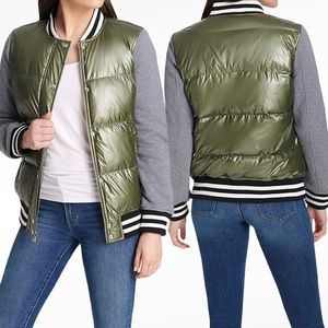 Levi's   Quilted Puffy Varsity Bomber Jacket